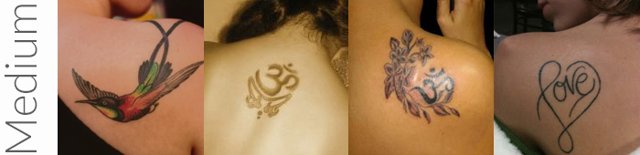 Examples of what are considered medium tattoos