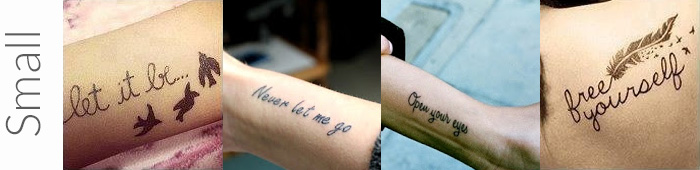 Examples of what are considered small tattoos