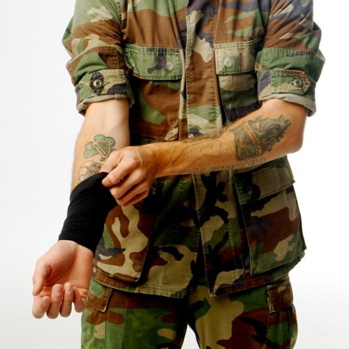 hide tattoo with military uniform